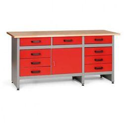Stół roboczy z szufladami i szafką