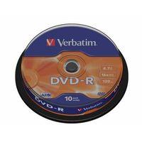 Płyty CD, DVD, Blu-ray, DVD-R Verbatim x16 4.7GB Matt Silver (Cake 10)