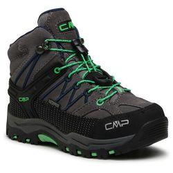 Trekkingi CMP - Kids Rigel Mid Trekking Shoe Wp 3Q12944 Graffite/Verde Fluo 29UF