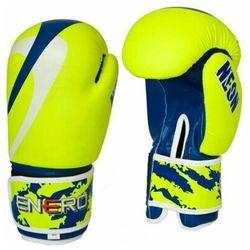 Rękawice bokserskie ENERO Neon (rozmiar 12oz) Zielono-granatowy