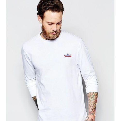Koszulki z długim rękawem, Penfield long sleeve t-shirt with mountain logo in white Exclusive at ASOS - White