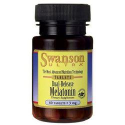 Swanson Melatonina podwójne uwalnianie 3mg 60 tabl.