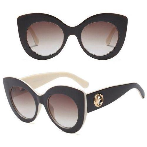 Okulary przeciwsłoneczne, Okulary przeciwsłoneczne damskie kocie oko brązowe