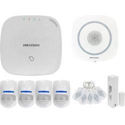 ZA12653 Bezprzewodowy system alarmowy GSM 4G 4 czujki ruchu HIKVISION z sygnalizatorem