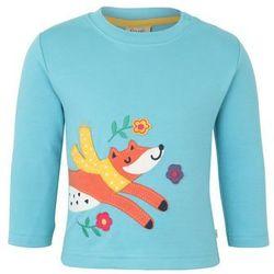 Frugi BABY ZGREEN LITTLE DISCOVERY APPLIQUE TOP Bluzka z długim rękawem aqua/fox