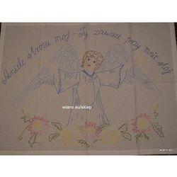 Makatka wiejska (bawełna) - Aniele stróźu mój, Ty zawsze przy mnie stój (kś-10)