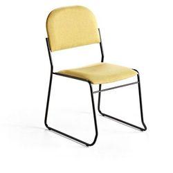 Krzesło konferencyjne DAWSON, tkanina, żółty