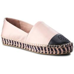 Espadryle TORY BURCH - Color Block Platform 48533 Sea Shell Pink/Perfect Navy 964