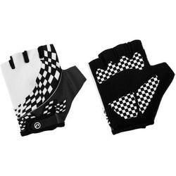 Rękawiczki dziecięce Accent Tommy biało-czarne L/XL