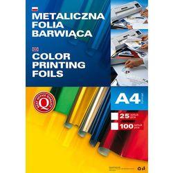 Metaliczna folia barwiąca A4, opakowanie 25 sztuk, czerwona, 362505
