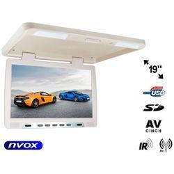 "NVOX RF1980U BE Monitor podwieszany podsufitowy LCD 19"" cali LED FM IR USB SD"