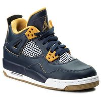 Buty sportowe dla dzieci, Buty NIKE - Air Jordan 4 Retro BG 408452 425 Mid Nvy/Mtlc Gld Str/Gld Fl/Wh