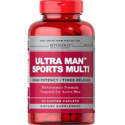 Ultra Man Multiwitaminy dla Sportowców Myology 90 tabletek Puritan's Pride