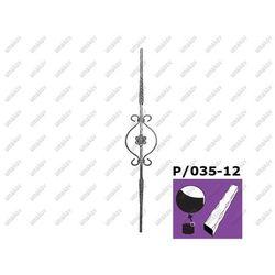 Tralka zdobiona h895, b140mm, P/035A-12