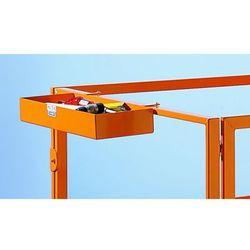Półka na narzędzia, żółto-pomarańczowa, RAL 2000, 600x200x80 mm. Pasuje do obydw
