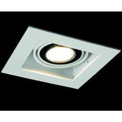 oczko SQUARES 50x1 230V czarne + żarówka PHILIPS LEDspot MV 6,5W - SZYBKA REALIZACJA!, AQUAFORM 36811-0000-U8-PH-02