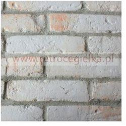 Płytki ze starej cegły - białe z przebarwieniami