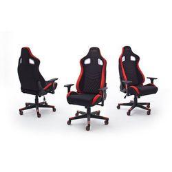 Fotel dla gracza WRC28 Racer czarno-czerwony oświetlenie LED