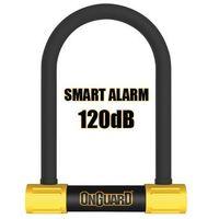Zabezpieczenia do roweru, Zapięcie rowerowe ONGUARD Smart Alarm 8266 U-LOCK - 16mm 124mm 208mm - 5 x Klucze z kodem