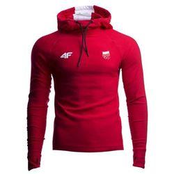 Bluza funkcyjna męska Polska Pyeongchang 2018 TSMLF901 - czerwony wiśniowy