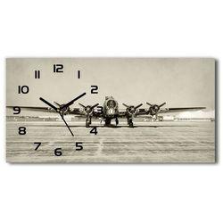 Zegar ścienny szklany Stary bombowiec