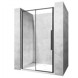 Drzwi prysznicowe z czarnymi profilami 90 cm Rea Solar Black