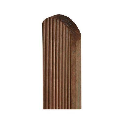 Pozostałe rośliny i hodowla, Sztacheta drewniana 150 x 9 x 2 cm ryflowana brązowa SOBEX