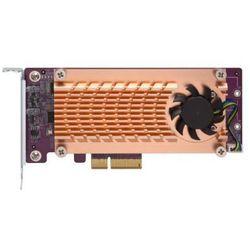 Karta rozszerzeń do serwera NAS QNAP QM2-2S-220A PCI-E x2 Gen 2 2x M.2 SATA 22110/2280 LP