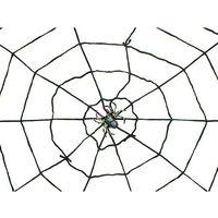 Pozostałe dekoracje, Duża pajęczyna czarna - 150 cm - 1 szt.