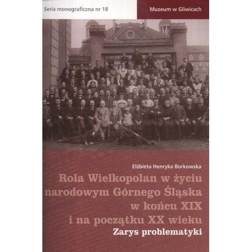 Historia, Rola Wielkopolan w życiu narodowym Górnego Śląska w końcu XIX i na początku XX wieku. Zarys problematyki (opr. miękka)