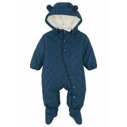 Kombinezon niemowlęcy ze stópkami (2-częściowy) bonprix ciemnoniebieski
