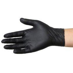 Rękawice nitrylowe NIE PUDROWANE Rozmiar S Czarne 100 szt