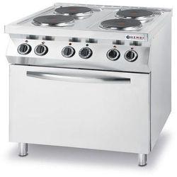 Kuchnia elektryczna 4 płytowa z piekarnikiem el. 4x GN 1/1 | 13400W