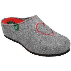 Kapcie Dr BRINKMANN 330149-9 Popielate Pantofle domowe Ciapy zdrowotne - Popielaty   Szary   Czerwony