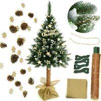 Ozdoby świąteczne, Choinka sztuczna na pniu sosna diamentowa 180 cm