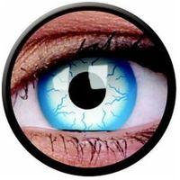 Soczewki kontaktowe, Soczewki kolorowe białe LIGHTENING Crazy Lens 2 szt.