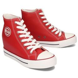 BIG STAR EE274614 czerwony, trampki, sneakersy damskie - Czerwony