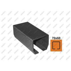 Profil do bramy przesuwnej Fe, 70x60x3,5mm, L3m