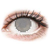 Soczewki kontaktowe, Soczewki kolorowe białe WHITE SCREEN Crazy Lens 2 szt.