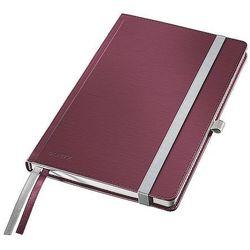 Notatnik w twardej oprawie Leitz Style A5 80 kartek kratka rubinowa czerwień 44860028