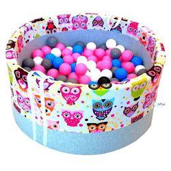 Suchy basen z piłeczkami dla dzieci BabyBall różowe sowy