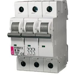 ETI Wyłącznik nadprądowy ETIMAT6 3P 6kA C 10A