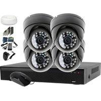 Zestawy monitoringowe, Monitoring do domu 4x kamera IR25m LV-AL25MD + Rejestrator LV-XVR44N + akcesoria