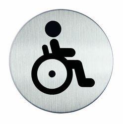 Oznaczenie toalet metalowe okrągłe - WC dla niepełnosprawnych