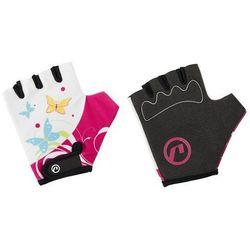 Rękawiczki dziecięce Accent Daisy biało-różowe L/XL