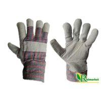 Rękawice ochronne, Zimowe rękawice robocze skórzane z dwoiny bydlęcej, ocieplane kożuszkiem RDBOA (60 par) - 60par