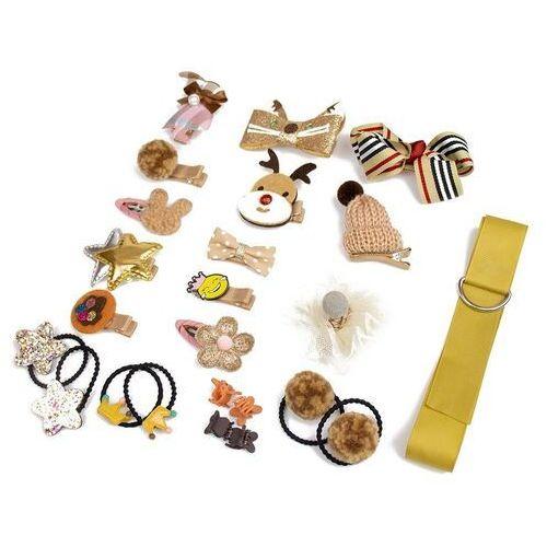 Pozostała biżuteria, Zestaw dla dziewczynki żółty spinki gumki prezent