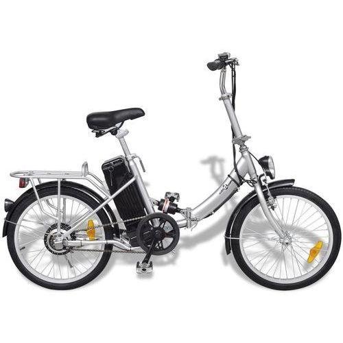 Rowery elektryczne, vidaXL Rower elektryczny składany z akumulatorem litowo-jonowym aluminium