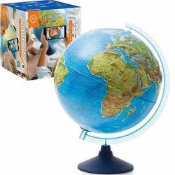 Globus 32 cm z mapą fizyczną, polityczną i aplikacją