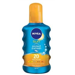 Nivea Sun Protect & Refresh SPF20 preparat do opalania ciała 200 ml dla kobiet